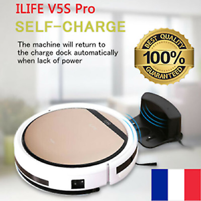 ILIFE V5s Pro LED Smart Aspirateur Robot Chargement automatique / manuel 850pa