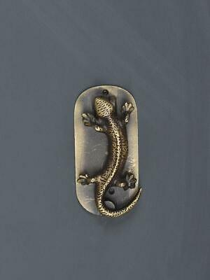 Pastel Country Lizard Shaped Door Knocker Decor Antique Brass Finish