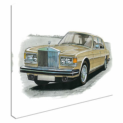 Vintage Rolls Royce Silver Spirit Canvas Wall Art Picture Print