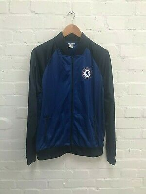 Chelsea FC Official Men's Poly Track Full Zip Jacket - Large - Blue - New