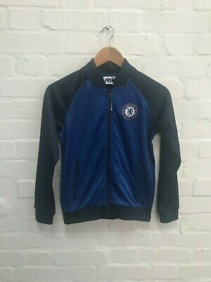 Chelsea FC Official Boys' Poly Full Zip Track Jacket - 10-11 Years - Blue - New