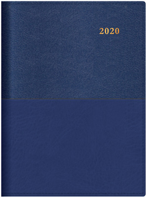 2020 Collins Vanessa A4 Week to View Open WTO Spiral Diary 345.V33 NAVY BLUE