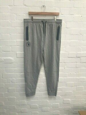 Chelsea FC Official Men's Sweat Pants Joggers - Large - Grey/Navy - New