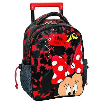 Sac à roulettes Minnie 3D trolley maternelle 31 CM - Cartable