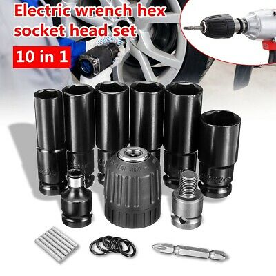 Impact Wrench Socket Set 10 Piece 1/2 Square Drive Metric 14 - 22mm Grade Tool