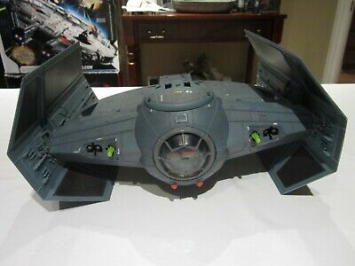 2003 Star Wars Power Of The Force-Darth Vader Tie Fighter With Missiles!