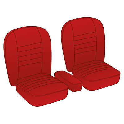 MGA Coupe Seat Cover set Leather Red / Red piping Pair 1955-1962 NEW 246-110