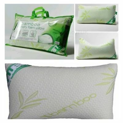 Memory Foam Pillows LUXURY BAMBOO  Anti Bacterial Orthopaedic - Head Support
