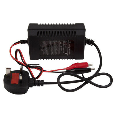 12V Intelligent Motorcycle Motorbike Battery Charger Automatic Smart Trickle New