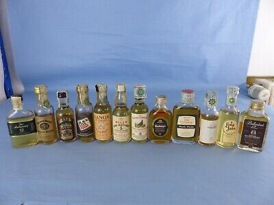 Lot 12 Mignonnettes whisky old pulteney oban bell's CHIVAS FAMOUS GROUSE LANGS