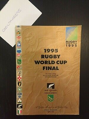 1995 Rugby World Cup Final - South Africa vs New Zealand Programme - Very Good