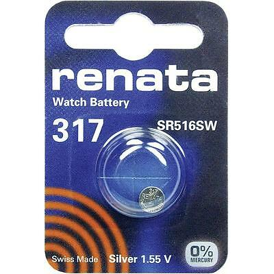 317 (SR516SW) Coin Battery Pack Renata 1.55V / for Watches Car Keys Torches