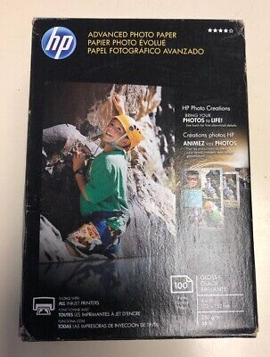 HP Advanced Photo Paper, Glossy, 4x6, 100 Sheets/Pack, GLOSSY