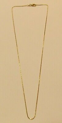 14K Gold Box Chain Necklace ~ 2.35 grams