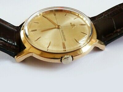 Vintage Slim 9ct.Gold Jaeger LeCoultre Hand Winding Gents Watch