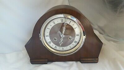 Vintage Enfield Striking Mantel Clock Restoration Project  Key Included