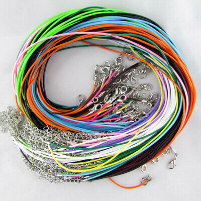 "50 Pack18"" Suede Leather String Necklace Cord Jewelry Making DIY Craft 1.5MM UK"