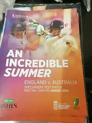 England V Australia 2Nd Ashes Test Match Lords 14-18 August 2019 Lords...