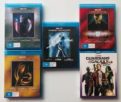 Pick 1 From 5 Blu-Ray Movie Collection Avengers Thor  Iron Man CAPTAIN AMERICA