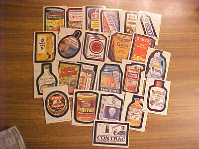 LOT 1979 Series 1 Wacky Packages 23 of 66 Sticker Trading Cards Vintage Topps