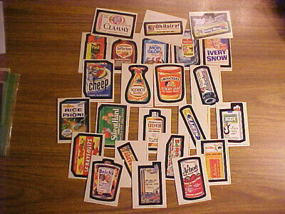 1979 Series 2 Wacky Packages LOT: 24 of 66 Sticker Trading Cards Vintage Topps