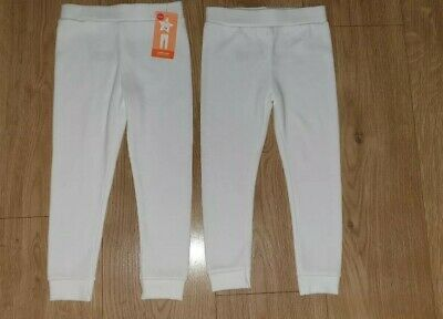 Mothercare 2 pairs Boys Thermal Leggings Long Johns 2-3 years WHITE Warm Winter