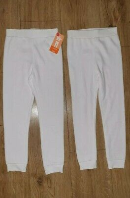 Mothercare 2 pairs Boys Thermal Leggings Long Johns 4-5 years WHITE Warm Winter