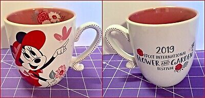 New 2019 Disney Epcot Flower and Garden Festival Minnie Happiness Blooms Mug Cup
