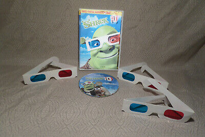Shrek 3-D   The Adventure Continues DVD with 3 Pairs of glasses