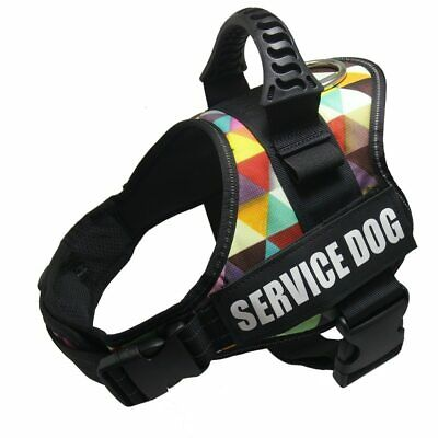 Personalized Pet Dog Harness Reflective Handle Adjustable Anti-collision Vest Co