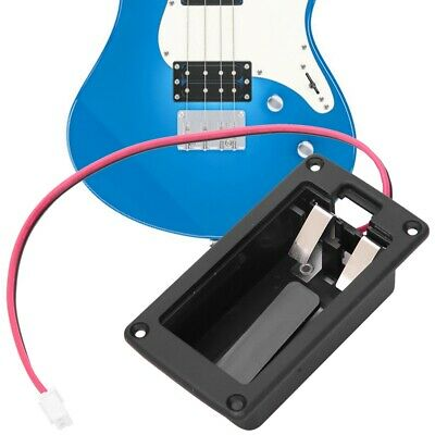 Durable 9V Guitars Basses Active Pickup Battery Box with Plate Red Black Wire