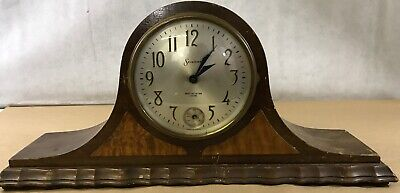 Antique Sessions Tambour Mantel / Shelf Clock with Westminster Chimes 416. L3