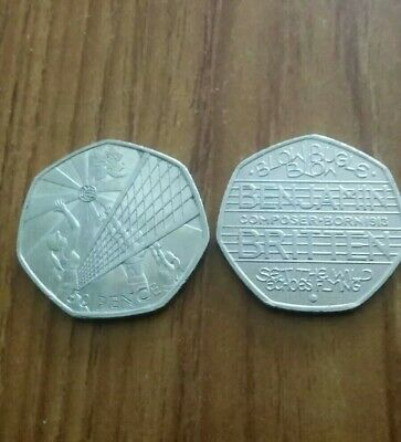 ☆ Olympic Vollyball & Benjamin Britten ☆ 2011 & 2013 ☆ 50p COINS ☆ Immaculate ☆