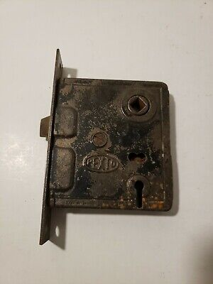 Vintage Pexto #5 Door Lock Assembly Early Turn Of Century Working Condition