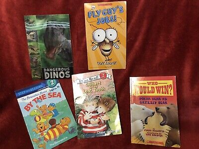 Lot of 5 Children's Books Paperback Readers Level 2 Fly Guy And Others
