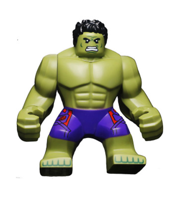 Lego Hulk 76031 76041 Big Figure Purple Pants Super Heroes Avengers Minifigure