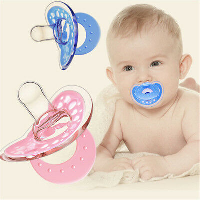 Baby Newborn Dummy Pacifier Soother Silicone Teether Nipple OrthodonticNipple M&
