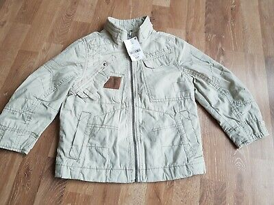 Boys Summer Cotton  Jacket. Aged 5 Years . From Next. Cream/ Zip Up./Pockets.