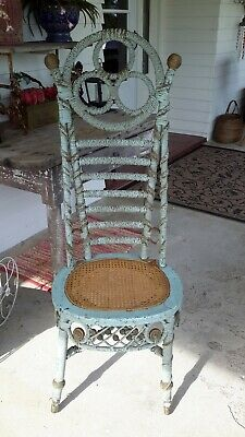 Victorian Haywood and Morell Rattan Receptionist Chair Circa Late 19th Century