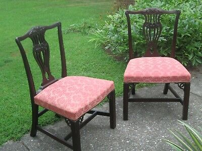 Vintage Carved Back TRADITIONAL Style Living Room Accent or Dining Room Chairs