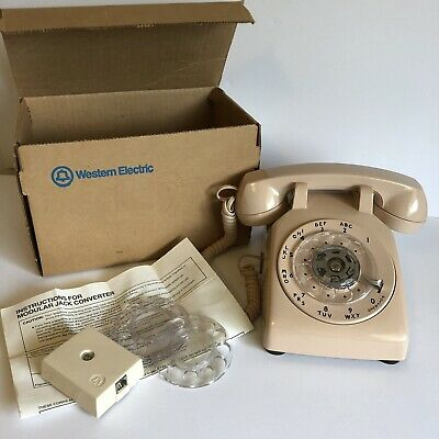 Vtg Western Electric Rotary Model 500 Telephone Bell System Property Pink Beige