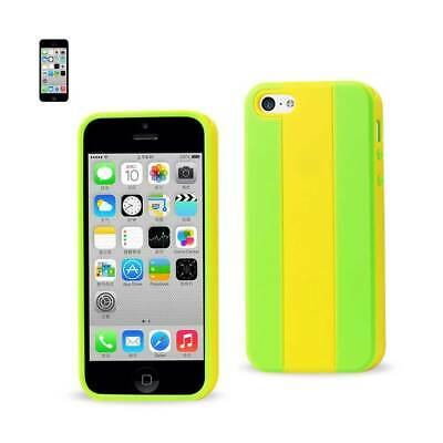 Reiko Iphone 5C Striped Case In Yellow Grey