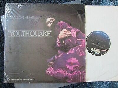 """DEAD OR ALIVE '85 original EPIC canadian LP """"YOUTHQUAKE"""" Ex vinyl w/ YOU SPIN ME"""