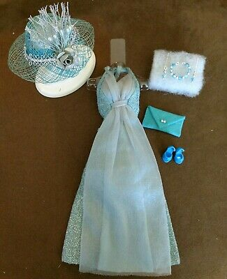 Vintage Barbie BEST BUY #9626 TURQUOISE GLITTER GOWN   MINT!   FREE  EXTRAS