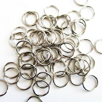 50 Open 10mm Jump Rings Silver Tone, 1.0 Thickness, Jewelry Findings