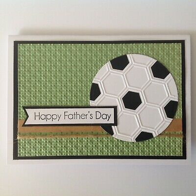 Handmade Father's Day card: Soccer.