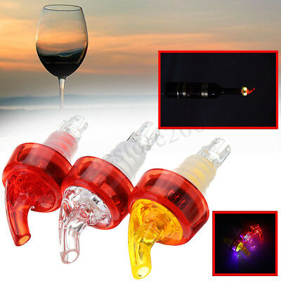 LED Lighted Liquor Cocktail Wine Bottle Pourer Stopper Pour Spout Dispenser
