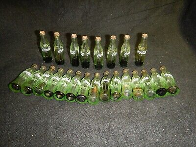 Vintage mini Coke Coca-Cola case with 24 glass bottles that were once full
