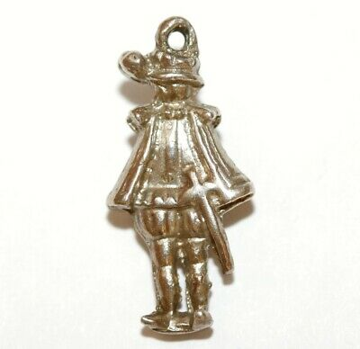 Musketeer With Sword Sterling Silver Vintage Bracelet Charm, Different 4.2g