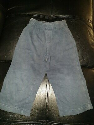 George Uk Boys Size 2 - 3 Years Track Suit Pull On Pants Fleece Bottoms Blue